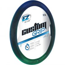 EZ Custom Grip Blue Green Steering Wheel Cover